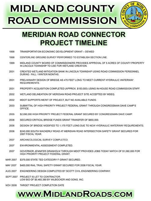 midland county road commission about us meridian road connector